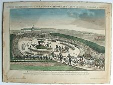 BÉNÉDICTION DRAPEAUX GARDE NATIONALE CHAMPS DE MARS 1814 RARE GRAVURE MILITARIA