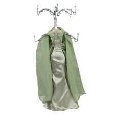 Mannequin Jewellery Display Stand Necklace Holder Lady Figure Dress Light Green