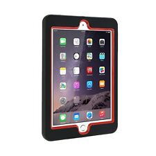 For Apple iPad mini Hybrid Heavy Duty Shockproof Red Military Tough Cover Case