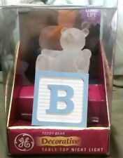 Ge Led Teddy bear table top night light Nib (C12)