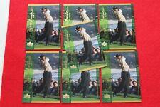 2001 UPPER DECK DEFINING MOMENTS TIGER WOODS #124 7 CARD LOT