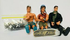 MAX STEEL 1998 Skateboard Action Figures + ULTRA CORPS 1999 VINTAGE Toys + Guns