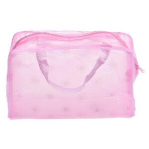 Transparent Waterproof Wash bag Storage bag Beautiful Flower Travel Outdoor
