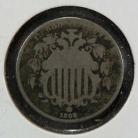 1866 5c SHIELD NICKEL, WITH RAYS LOT#N-002