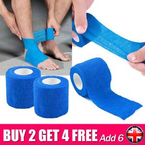 First Aid Sports Bandage Self-Adherent Wrist Ankle Gauze Tape Elastic Vet Wrap
