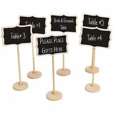 10 Chalk Board Stands Wedding Party Table Decor Centerpieces Vintage Photo Props