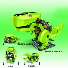 Creative hágalo 4 En 1 aprendizaje educativo Potencia Dragon Solar Robot Juguete