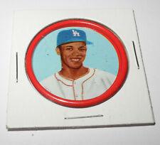 1963 Salada Junket Baseball Coin Pin #20 Maury Wills Los Angeles Dodgers v6