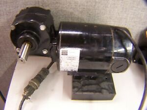 BODINE 1/6 HP GEARMOTOR 50 RPM 40:1 RATIO 130 VDC 77 IN LBS 1.5 X .5 42A4BEPM-5L