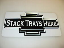 STACK TRAYS HERE Vintage Style Metal Art Deco Sign 4 Home Diner Fast Food Burger
