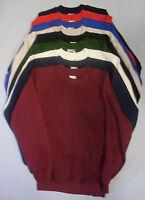 Adults Mens Raglan Sweatshirt Sweater Jumper Top Fruit Of The Loom Long Sleeve