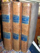 BEAUMARCHAIS 3 VOL dont EPOQUES 1vol ILLUSTRE 1809 COLLIN Exlibris DE BARRAL