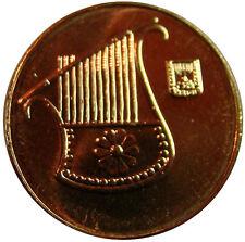 3 Ancient Lyre Harp on Modern Israel Israeli Coin Half Sheqel 1/2 Shekel Coins