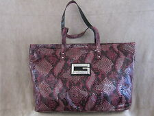 GUESS by Marciano Womens Wild Kingdom Berry XLg Tote Shopper Handbag Purse NWT