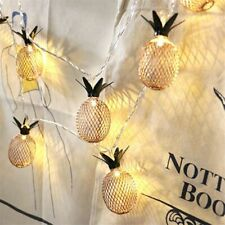 LED String Christmas Lights Metal Pineapple Drops Holiday Ornaments Illumination