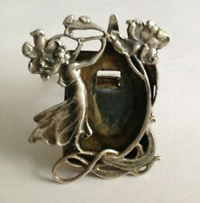 Vintage Sterling Silver Art Nouveau Miniature Picture Frame marked 925