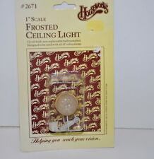 "Houseworks Frosted Ceiling Light 1"" Scale Dollhouse Miniature #2671 New"