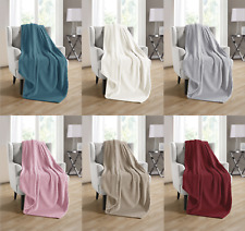 Kate Aurora Ultra Plush Tufted Fleece Throw Blanket Covers - Assorted Colors