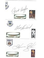 Brent Hughes Signed / Autographed Index Card Los Angeles Kings (1/2 logo off)