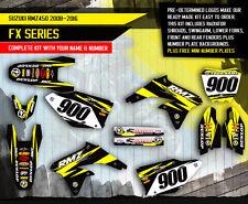 Suzuki RMZ 450 stickers decals graphic kit RMZ450 2008-2015 FX SERIES