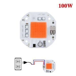100W LED Plant Grow Light COB Chip High power Full Spectrum Lamp Bulb 110-220V