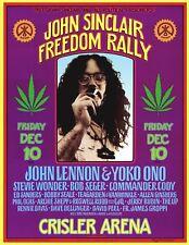 MINT John Sinclair John Lennon Yoko Ono 1971 Ann Arbor AOR 4.194 Poster