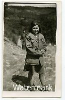 Vintage  photo  Military man 1940s WW2 US Soldier with Lady Italy #3