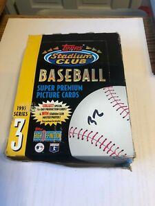 1993 Topps Stadium Club Baseball Card Packs