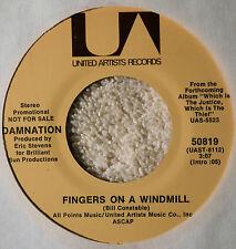 Damnation Fingers on a Windmill DJ 45 Garage Psych Rock VG++ Plays Nicely UA 70s