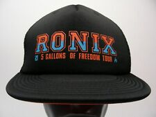 Ronix - 5 Gallons Of Freedom Tour - Trucker Style Snapback Baseball Cap Hat!