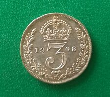 More details for 1908 edward vii threepence silver coin