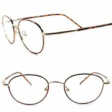 53dbf81078 True Vintage Rx-Able Prescription Mens Womens Oval Gold Eye Glasses Frames