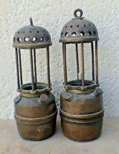 LOT DE 2 LAMPES DE MINEUR CARMAUX  ARRAS