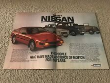"Vintage 1984 NISSAN Z CAR KING CAB & DATSUN CONVERTIBLE Print Ad ""50 YEARS"" RARE"