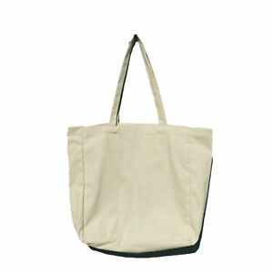 Bag Tote Plain Shopping Shoulder Canvas Shopper Cotton Gift Eco Carry Reusable