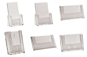 A6 DL A5 A4 Leaflet Holders Counter Stands Wall Displays Flyer Menu Dispensers