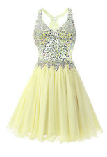 Short Beading Tulle Cocktail Party Prom Homecoming Dresses Bridesmaid Ball Gowns
