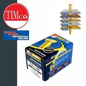 TIMco Concrete Screws -T30 Multi-Fix Door & Window Frame Screws - Countersunk