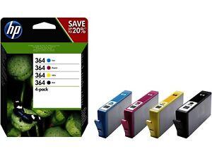 Genuine HP 364 InkCartridges Black, Cyan, Magenta, Yellow - FREE UK DELIVERY