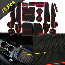 15x Full Inter Cup Holder Coasters Door Slot Mats For Toyota Corolla 2014-2019