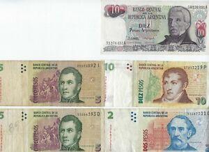 LOT 5 BILLET DE BANQUE ARGENTINE