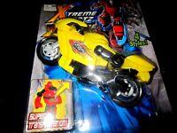 XTREME BOTZ STREET BIKE MOTORCYCLE BOOTLEG YELLOW TRANSFORMER ACTION FIGURE