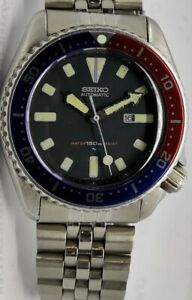 VINTAGE SEIKO DIVER 4205-015T BLUE ORIGINAL DIAL AUTOMATIC WATCH S.N: 630016