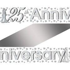 SILVER venticinquesimo anniversario FOIL Banner