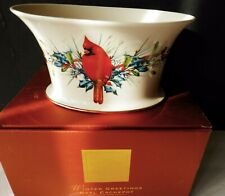 Lenox Oval Cachepot Winter Greetings Red Cardinal Catherine McClung with Box