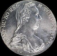 Austria 1780 1 Thaler restrike KM#T1 SIlver World Coin, Beautiful