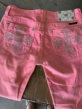 Pre Owned Womens MISS ME Capri Pink Jeans SZ 29