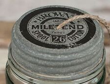 Rustic Brown's Mile End Spool Cotton Mason Jar String Dispenser Lid with String