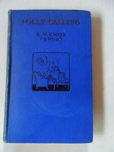 Folly Calling by E V Knox Punch poetry humorous hardback Brighton British Egg