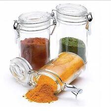 New  Kitchen Craft 100ml Mini Clip Top Glass Spice & Herb Jar